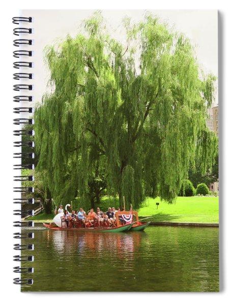 Boston Garden Swan Boat Spiral Notebook