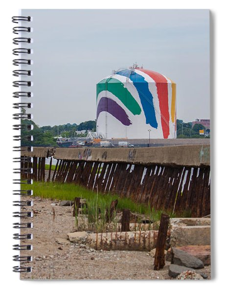 Boston Gas Tank From Squantom  Spiral Notebook