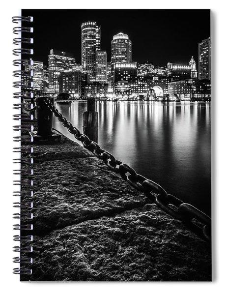 Boston Harbor At Night Spiral Notebook
