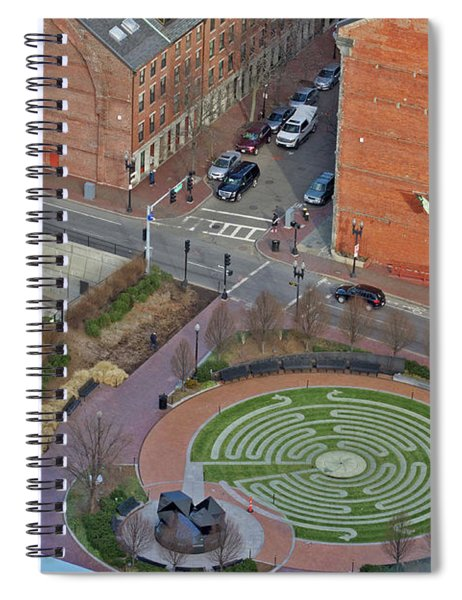 Boston Labyrinth Spiral Notebook