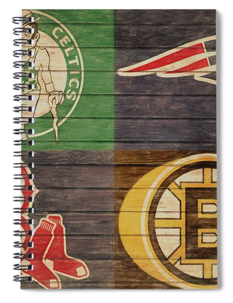 Boston Sports Teams Barn Door Spiral Notebook