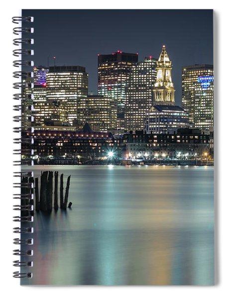 Boston's Skyline From Lopresti Park Spiral Notebook