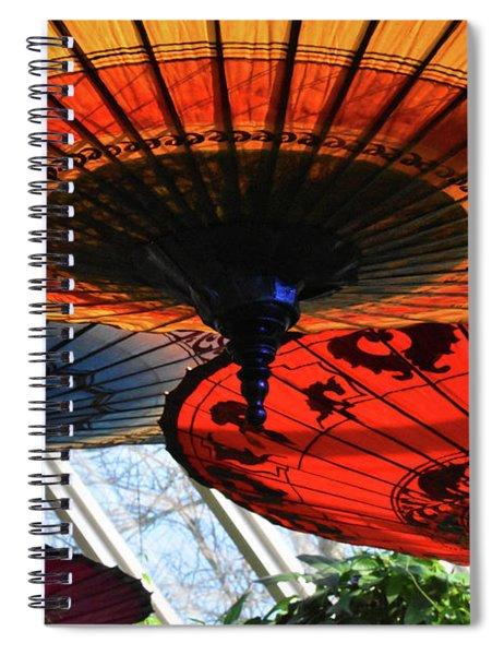 Botanic Garden Umbrellas Spiral Notebook