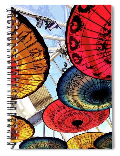 Botanic Umbrellas Spiral Notebook