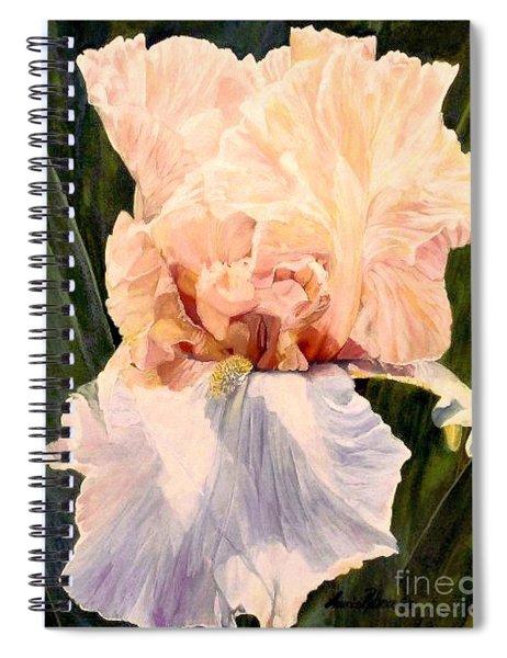 Botanical Peach Iris Spiral Notebook