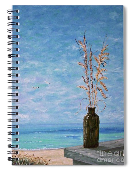 Bottle And Sea Oats Spiral Notebook