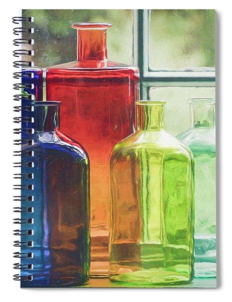 Bottles In The Window Spiral Notebook