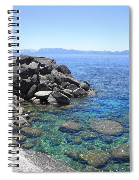 Boulder Cove On Lake Tahoe Spiral Notebook