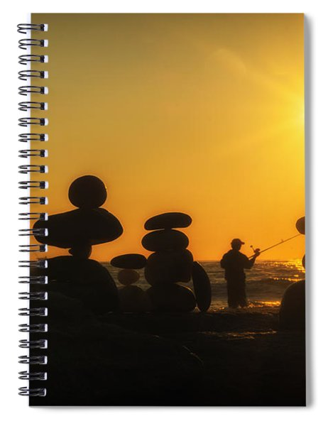 Boulders By The Sea Spiral Notebook