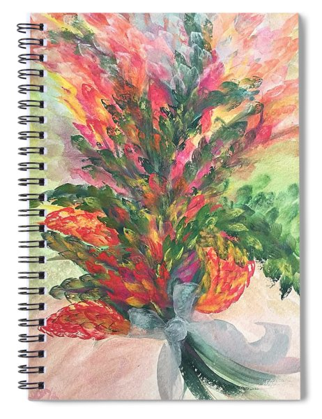 Bouquet And Ribbon Spiral Notebook