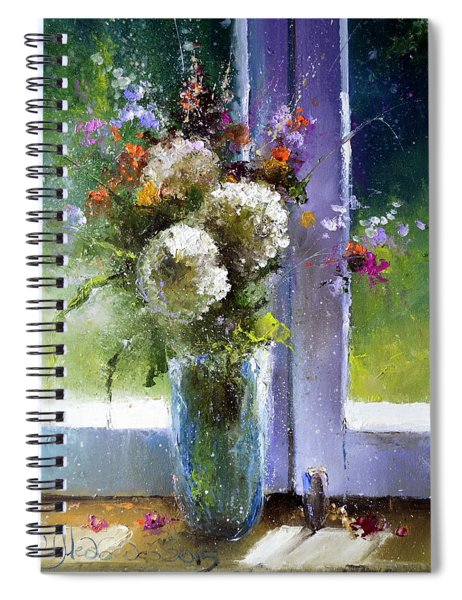 Bouquet At Window Spiral Notebook