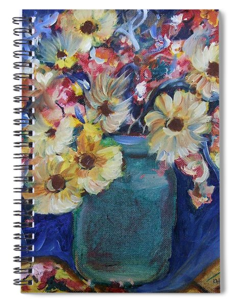 Bouquet Flowers Of Blue  Spiral Notebook
