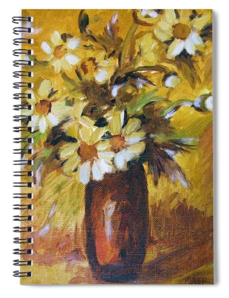 Bouquet Flowers Of Gold Spiral Notebook