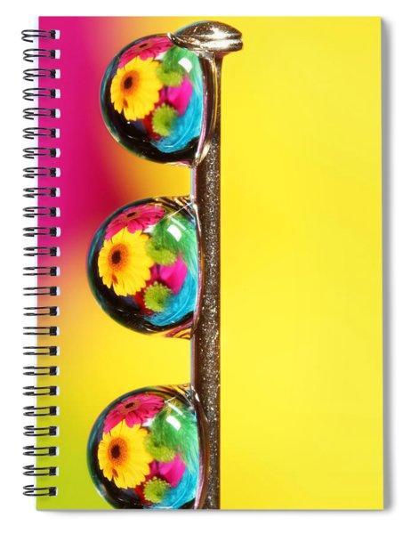 Bouquet In A Pin Drop Spiral Notebook