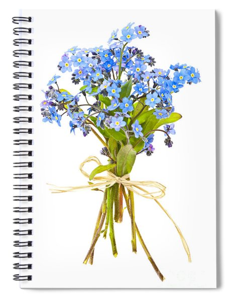 Bouquet Of Forget-me-nots Spiral Notebook