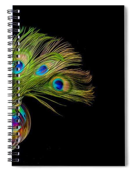 Bouquet Of Peacock Spiral Notebook