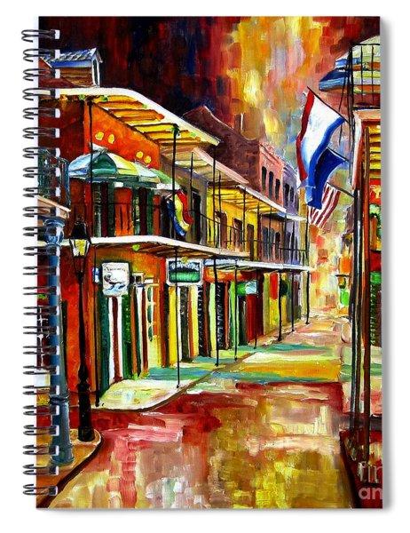 Bourbon Street Lights Spiral Notebook