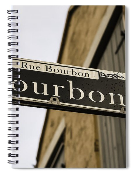 Bourbon Street, New Orleans, Louisiana Spiral Notebook