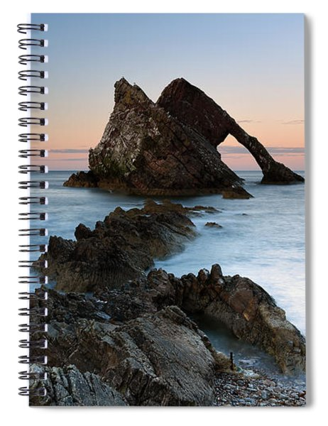 Bow Fiddle Rock At Sunset Spiral Notebook