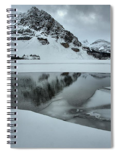 Bow Lake Icebergs And Reflections Spiral Notebook