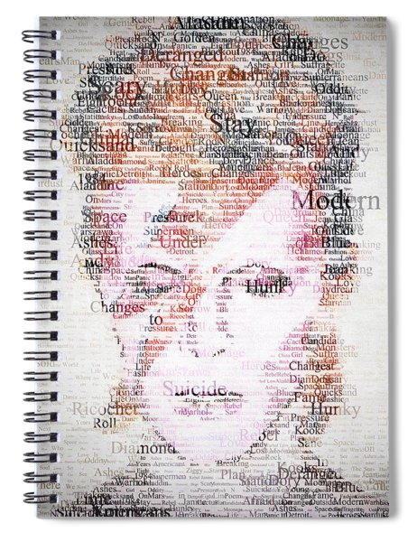 Bowie Typo Spiral Notebook