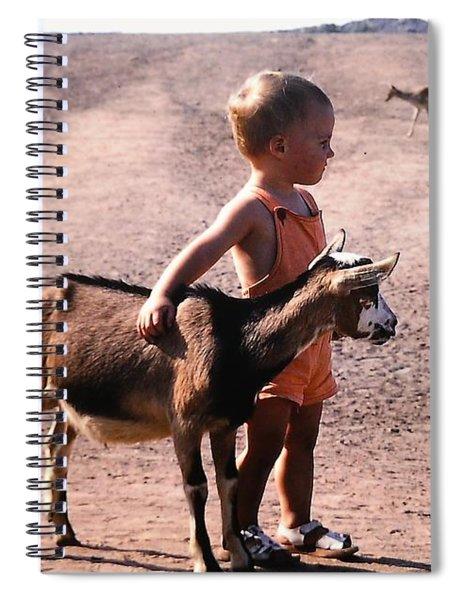 Boy And A Goat Spiral Notebook