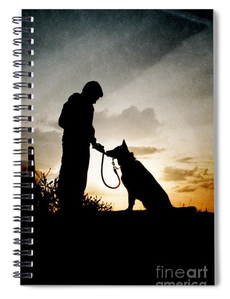 Boy And His Dog Spiral Notebook