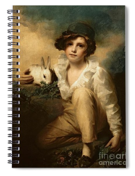 Boy And Rabbit Spiral Notebook