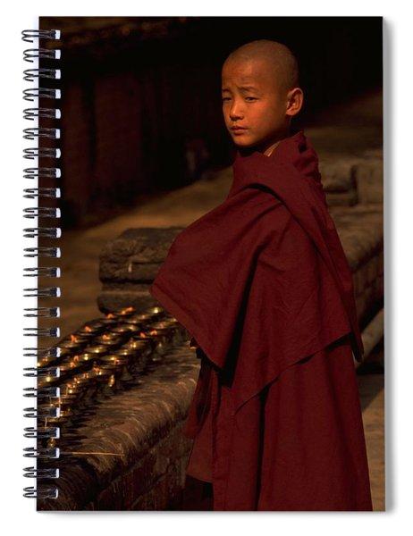 Boy Buddhist In Bodh Gaya Spiral Notebook by Travel Pics