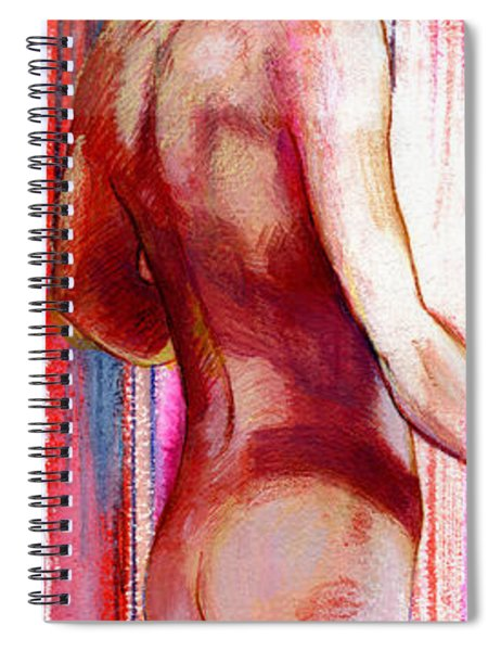 Boy With Vertical Lines Spiral Notebook