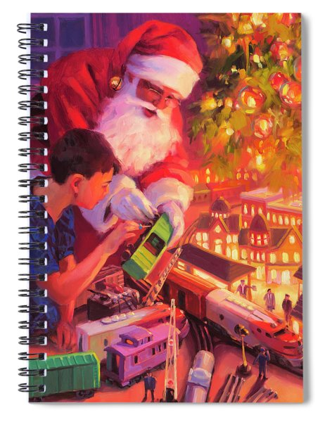 Boys And Their Trains Spiral Notebook