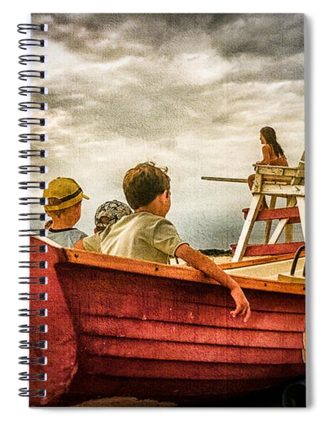 Boys Of Summer Cape May New Jersey Spiral Notebook