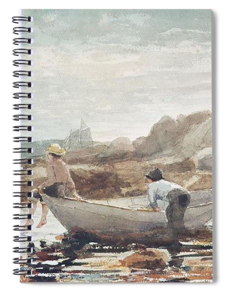 Boys On The Beach Spiral Notebook