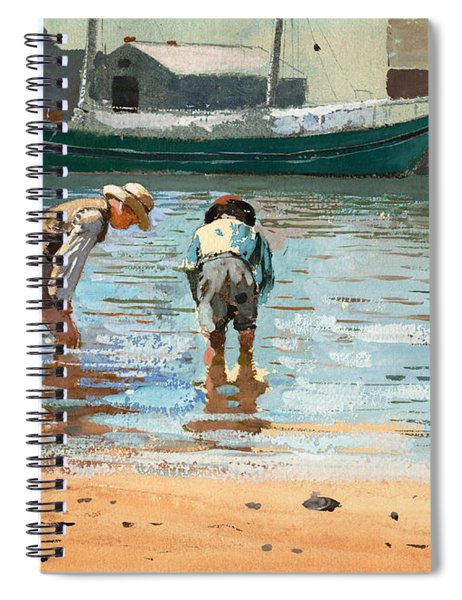 Boys Wading Spiral Notebook