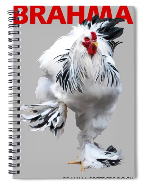 Brahma Breeders Rock Red Spiral Notebook