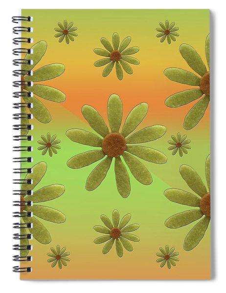 Brass Corollas Spiral Notebook