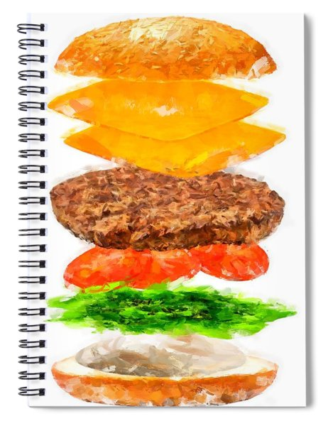 Brazilian Salad Cheeseburger Spiral Notebook