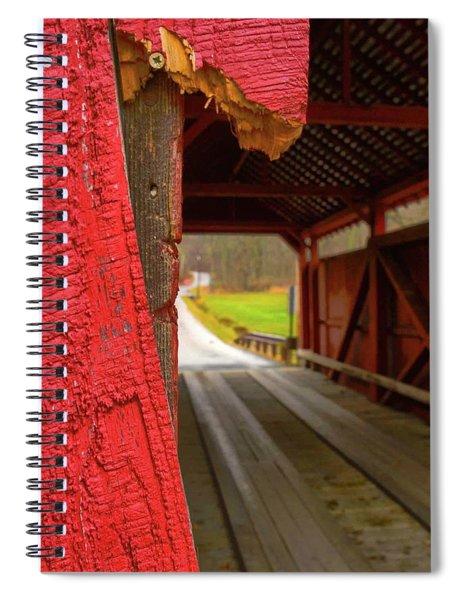 Break In The Bridge Spiral Notebook
