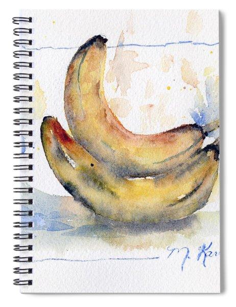 Breakfast Bananas Spiral Notebook
