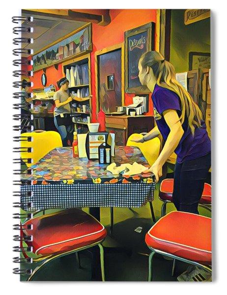 Breakfast In Wimberley Spiral Notebook