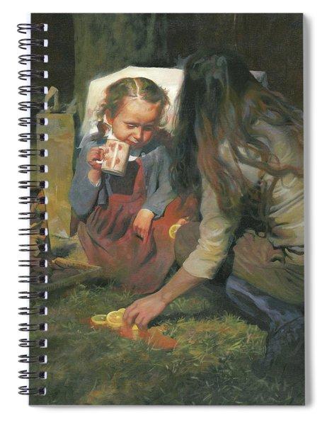 Breakfast On The Grass Spiral Notebook