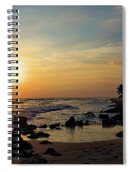 Breaking Sunset Spiral Notebook
