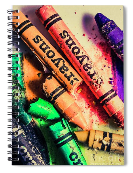 Breaking The Creative Spectrum Spiral Notebook