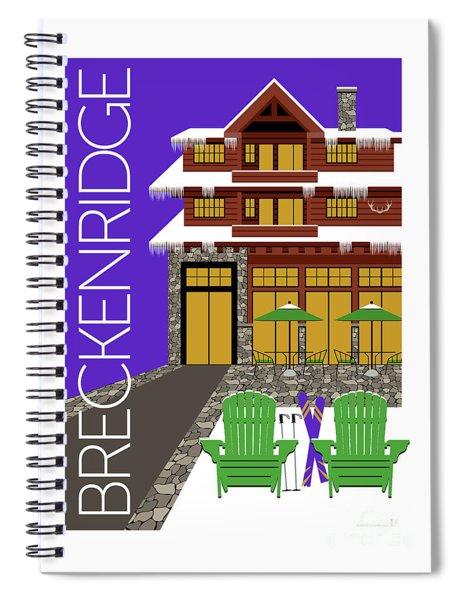 Breckenridge Purple Spiral Notebook