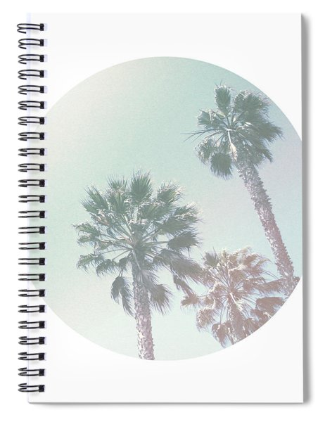 Breezy Palm Trees- Art By Linda Woods Spiral Notebook