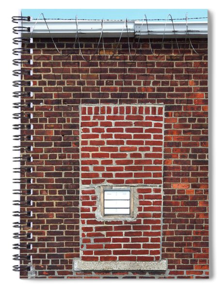 Brick And Barbed Wire Spiral Notebook