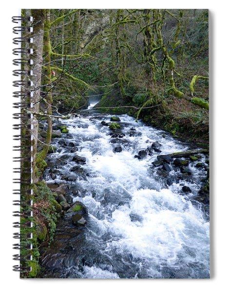 Bridal Veil Creek Below The Falls Spiral Notebook
