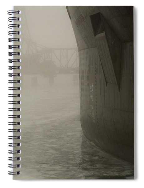 Bridge And Barge Spiral Notebook