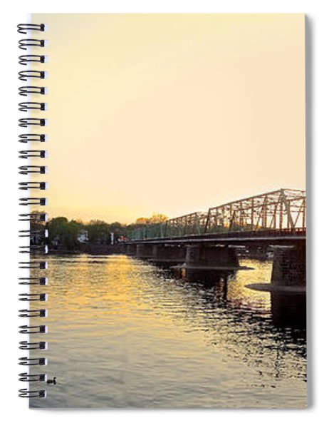 Bridge And New Hope At Sunset Spiral Notebook