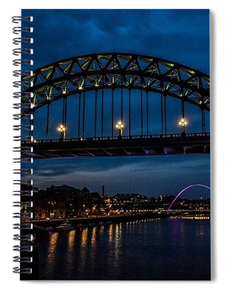 Bridge At Dusk Spiral Notebook
